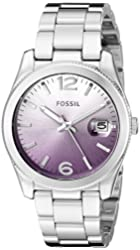 Fossil Women's ES3778 Perfect Boyfriend Analog Display Analog Quartz Silver Watch