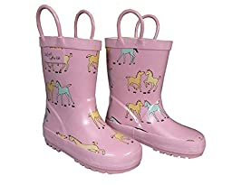 Foxfire for Kids Pony Rubber Boots 8 Pink