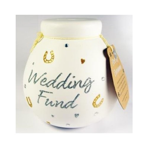- Our Wedding Fund - Ceramic Money Box 401029 By Pot Of Dreams