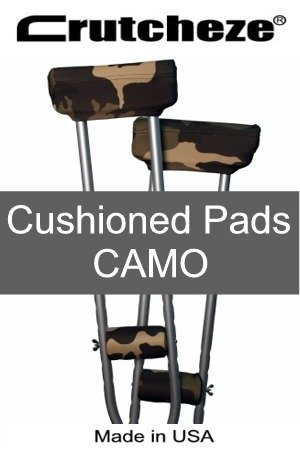 Crutcheze Underarm Crutch Pads 4 Piece Set Camo