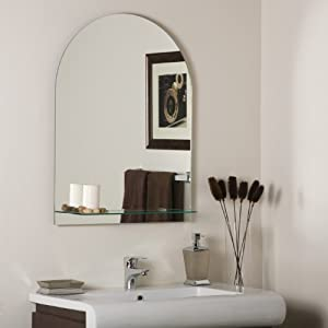 The Arch Frameless Bathroom Mirror With Shelf Wall Mounted Mirrors