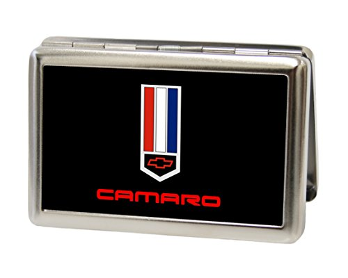 Chevrolet - Camaro Badge Black/Red/White/Blue - Metal Multi-Use Wallet Business Card Holder