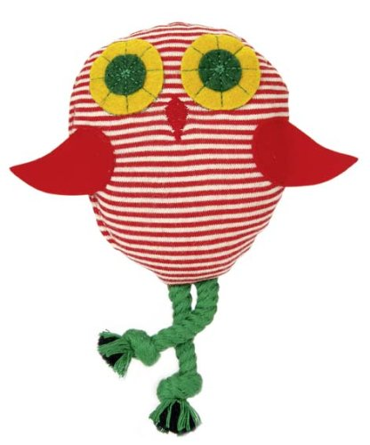 Kathe Kruse - Shaking Owl Rattle, Red/White