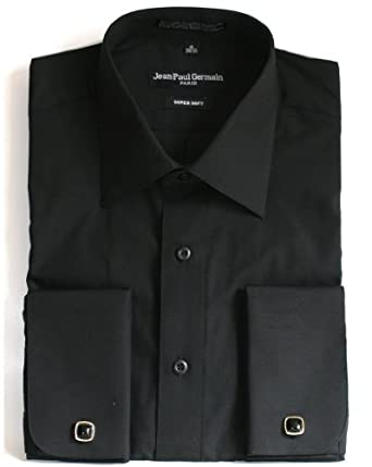 Black French Cuff Dress Shirt Cufflinks Included At