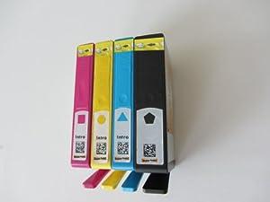 4 Druckerpatronen mit Chip für HP 364XL 1 x Schwarz HP 364BK XL/ 1 x blau HP 364C XL/ 1 x rot HP 364M XL/ 1 x HP gelb 364Y XL (komp.)