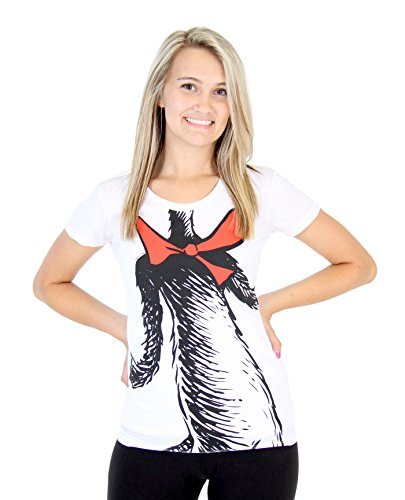 Dr. Seuss the Cat in the Hat Body Juniors White Costume T-Shirt