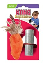 Kong Dr Noys Feather Top Carrot - Cats With An Attitude Catnip Toy