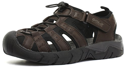 Gola 2015 Shingle 2 Synthetic Leather Brown Mens Sports Sandals, Size 15
