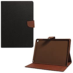 Mercury Goospery Folding Flip Folio PU Leather with 4 card slot Stand Case Cover for Apple iPad Air 2 / iPad 6 - Black + Brown