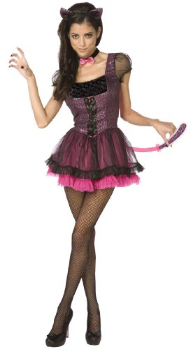 Sexy Kitty Cat 2pc Womens Costume Pink