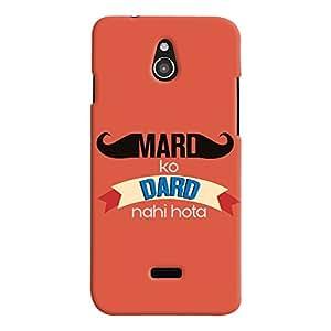 ColourCrust Infocus M2 Mobile Phone Back Cover With Mard Ko Dard Nahi Hota Quirky - Durable Matte Finish Hard Plastic Slim Case