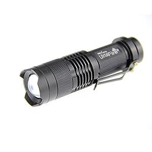 UltraFire®7W 300LM Mini CREE LED Flashlight Torch Adjustable Focus Zoom Light Lamp