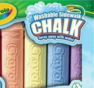Crayola 4 Ct. Washable Sidewalk Chalk - 1