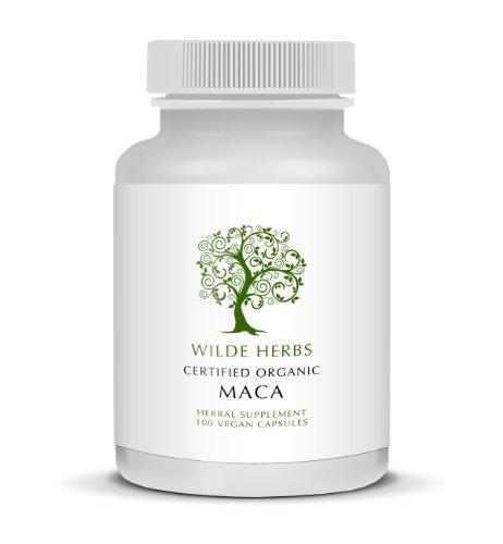 Organic Maca 100 Capsules (Wilde Herbs)