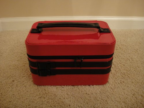 Mac Red Desire Train Case Makeup Holder Cosmetic Case