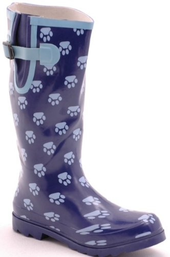 the boot kidz paw print wellies