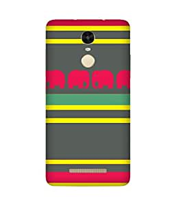 Stripes And Elephant Print (13) Xiaomi Redmi Note 3 Case