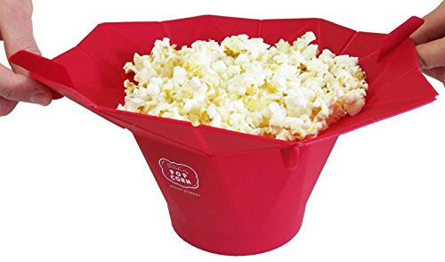 [Silicone Microwave Popcorn Popper bowl / Popcorn Maker - Red] (Pot Of Gold Costume Homemade)
