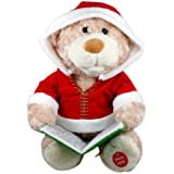 "Cuddle Barn ""Storytime Teddie"" Animated Storytelling Bear Doll: Moves and Recites Holiday Classic Tale"