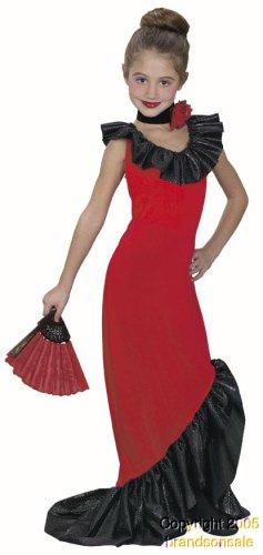 Kid's Spanish Dancer Dress Costume (Size:Medium