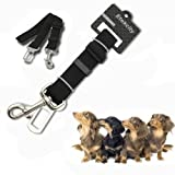 Etekcity® Adjustable Car Vehicle Seatbelt Pet Dog Safety Belt Harness Lead Clip, Make from Nylon Fabric
