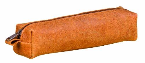 1 fourre Tout Rectangulaire en cuir vintage couleur beige - 19x4,5x4cm