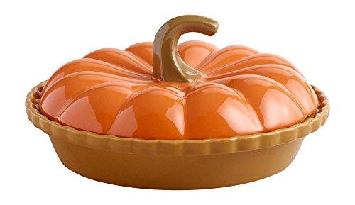 Orange Pumpkin Ceramic Pie Dish (Pumpkin Pie Dish compare prices)