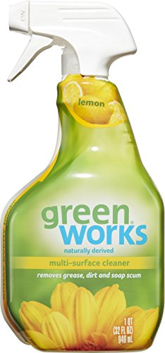 Green Works Multi-Surface Cleaner, Spray Bottle, Lemon, 32 Ounces (Pack of 3)(Packaging May Vary) (Natural Kitchen Cleaner compare prices)