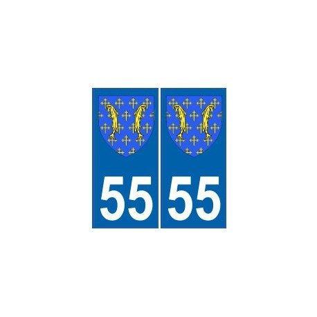 Mosa-Adesivo stemma 55 armoiries stickers dipartimento, arrotondati