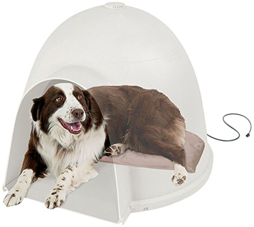 K&H Lectro-Soft Igloo Style Dog Bed, Large 17.5-Inch By 30-Inch, 60-Watts