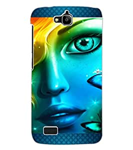 ColourCraft Beautiful Girl Look Design Back Case Cover for HUAWEI HONOR HOLLY