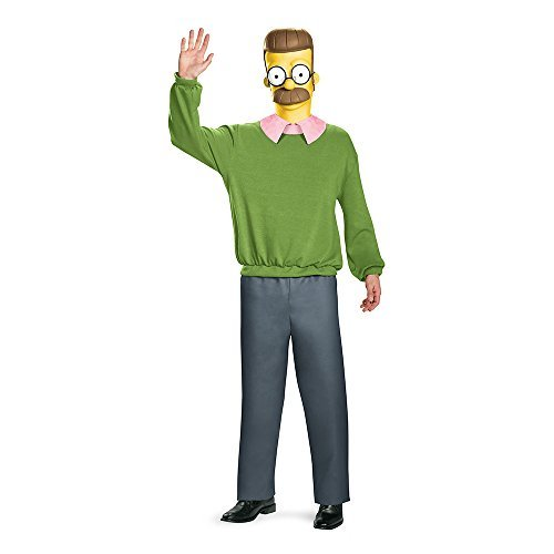 [Disguise Boys Ned Flanders Deluxe Adult Fancy dress costume Medium by Disguise] (Ned Flanders Costumes)