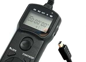 Télécommande de minuterie JJC TM-J pour Olympus OM-D E-M5, EP-1, EP-2, EPL-2, E-P3, E-PL3, E30, SH21, SH25MR, SP-510 UZ, SP-550 UZ, SP-565UZ,SP-570UZ, SP590UZ, SP620UZ, SP720UZ, SP SZ-20, SZ-30MR, SZ-31 MR, XZ-1, XZ-2