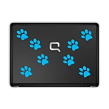 Super stylish Paw Prints Pawprints laptop / tablet stickers x8 (Olympic Blue)