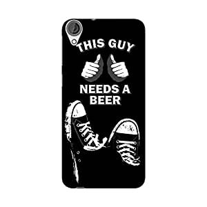 Wrapit Food&booze This Guy Needs A Beer Hard Back Case Cover For HTC Desire 820