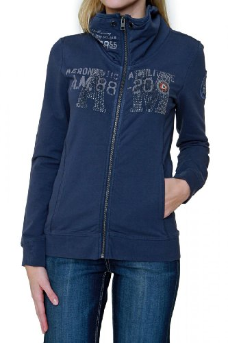 Aeronautica Militare Zip Through Sweatshirt AM-88-20, Color: Dark blue