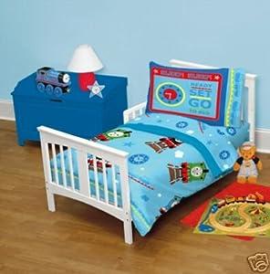 thomas train 4pc toddler bedding set new boy crib