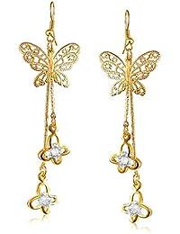 Vk Jewels Drop Diamond Gold Brass Alloy Cz American Diamond Earring For Women Vkerz1668G