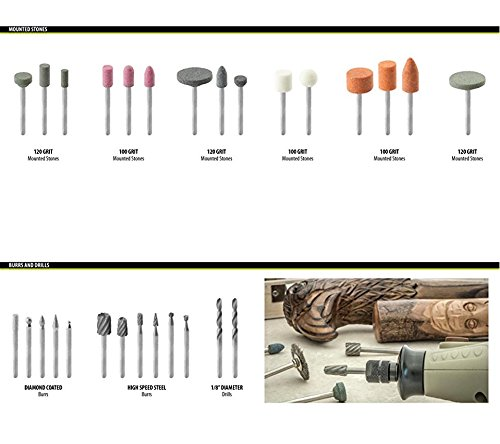 ZFE 217 Piece Rotary Tool Accessory Set - Fits Dremel - Grinding, Sanding, Polishing