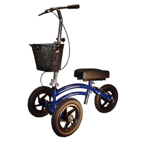 All Terrain Knee Walker Scooter Heavy Duty Bariatric Outdoor KneeRover Blue NEW