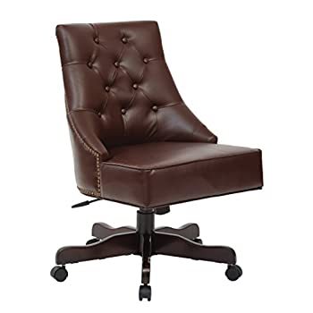 OFFICE STAR BP-REBEX-BD24 Rebecca Office Chair, Cocoa