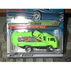 Mattel Hot Wheels 1998 1:64 Scale Biohazard Series 3 of 4 Yellow Recycling Truck Coll 719 Die Cast Car