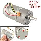 37mm 12V DC 100RPM 0.33A Torque Gear Box Motor