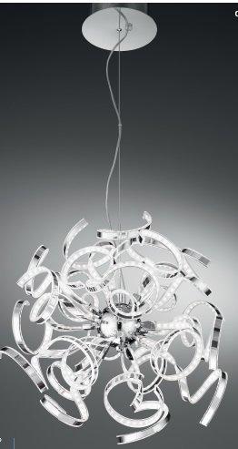 F.A.N. EUROPE Lighting LED-OPHELIA/S24 - Lampadario da soffitto a sospensione, Cromo