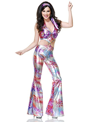 Womens Groovy Disco Girl 70's Dance Costume