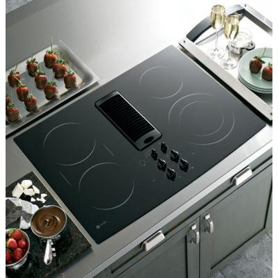 GE Profile : PP989DNBB 30 Electric Cooktop, Downdraft, Smoothtop &#8211; Black