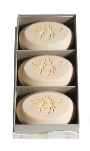 Personalized Signature Scented Soap Trio Bar Box Gift Set Personalized with a Bee Graphic - Scent: Bamboo Birch - New Hope Soap 100pcs soap flower bouquet scented soap flower head 100pcs plush animal toys teddy bear in box for birthday valentine s day