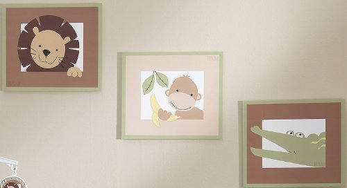 Bedtime Originals Baby Zoo Wall Decor - Chocolate