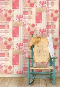 Coloroll Pollyanna Vintage Patchwork Wallpaper Ca by New A-Brend