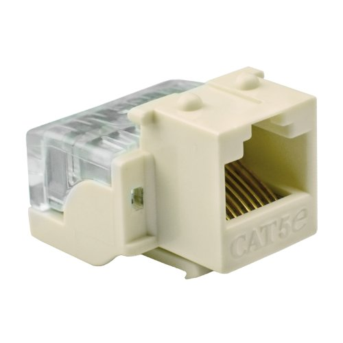 Mediabridge Cat5E Connector - Punch-Down Rj45 Insert For Keystone Wall Plate - 5 Pack - Almond